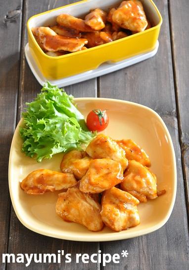 激ウマ!鶏むね肉がしっとり♪子どもも喜ぶBBQソース焼き