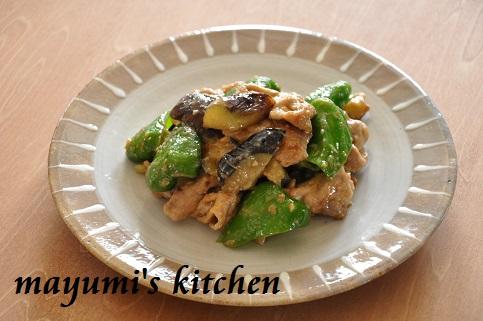 ジューシー豚肉と野菜のみそ炒めと、ピーマンの保存