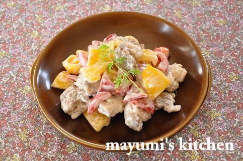 デリ風おかず☆鶏肉とパプリカのマヨソース和えと、パプリカの保存