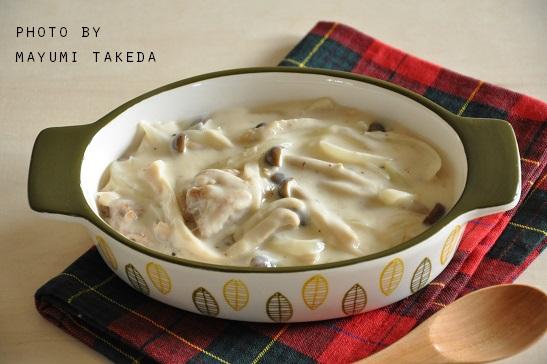 きのこたっぷり♪鶏肉とキノコのクリーム煮と、きのこの冷凍保存