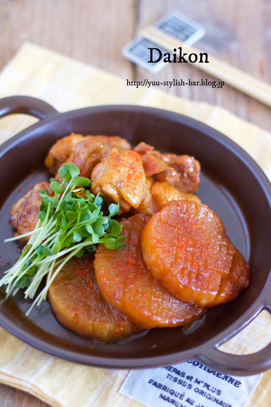 失敗しない煮物の基本テクニック♡『鶏肉と大根のコッテリ甘辛煮』
