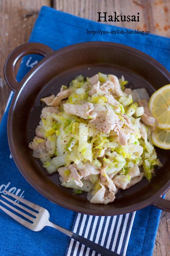 塩もみ白菜を使ったアレンジレシピ②『豚バラと白菜の塩ガーリック炒め』