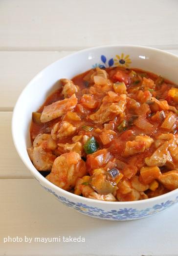 アレンジ無限!チキンと野菜のトマト煮込み