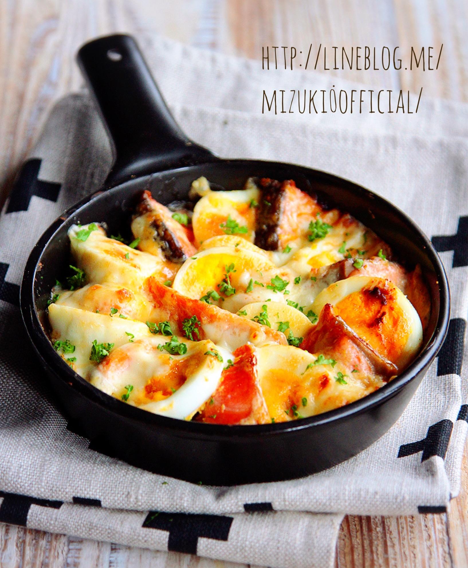 ♡トースターde超簡単♡鮭と卵の味噌マヨチーズ焼き♡【#時短#火を使わないレシピ#魚】