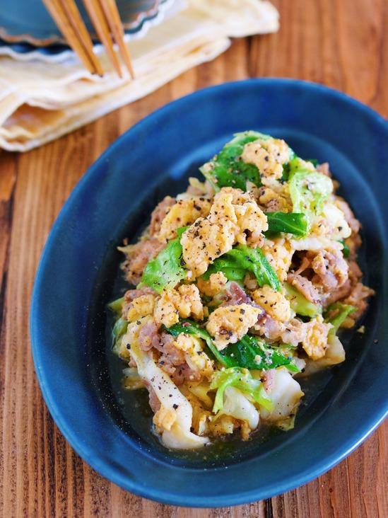 買い物いらず♪ご飯がすすむ♪『ふわ玉♡豚キャベツの中華炒め』