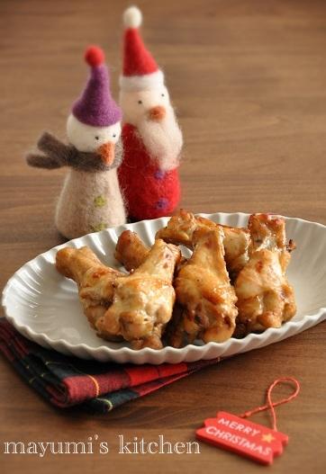パリッとジュワっと特売手羽元で♪簡単すぐできクリスマスチキン