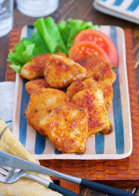 作り置きやお弁当にも♪『むね肉 de 味噌マヨ照り焼きチキン』