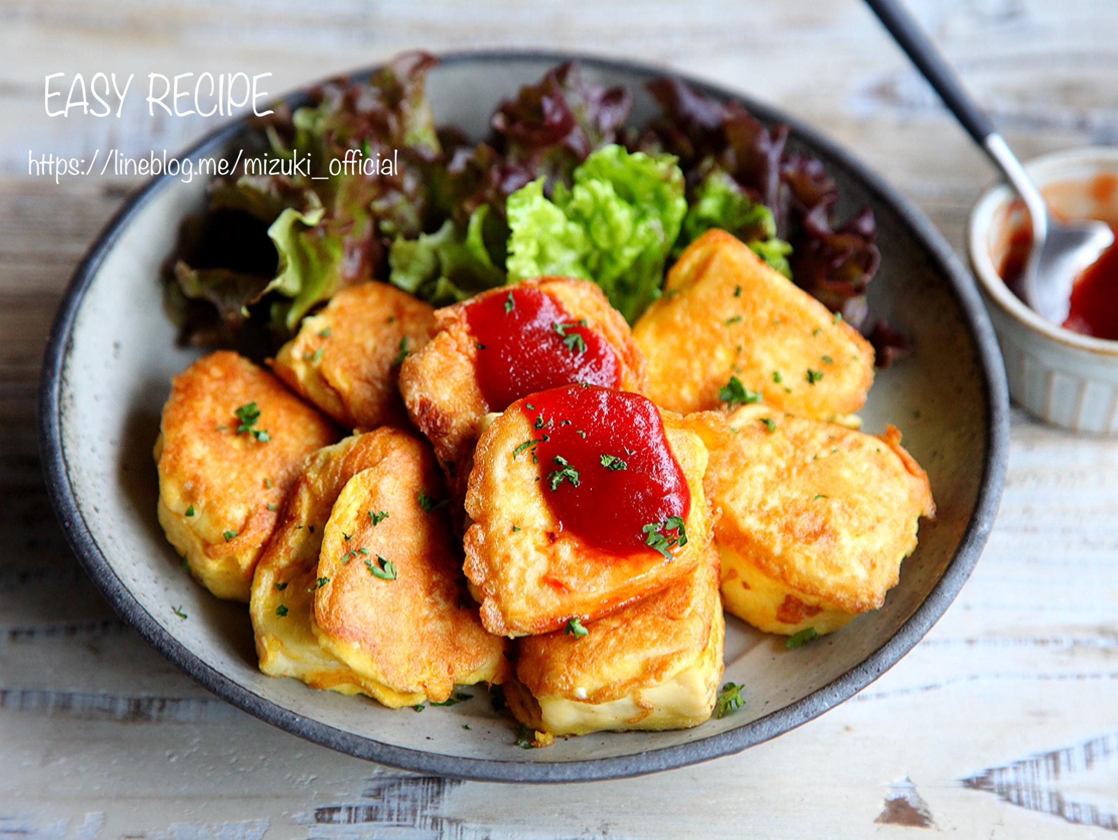 ♡簡単・ヘルシー♡お豆腐のマヨネーズピカタ♡【#節約#コスパ#卵】