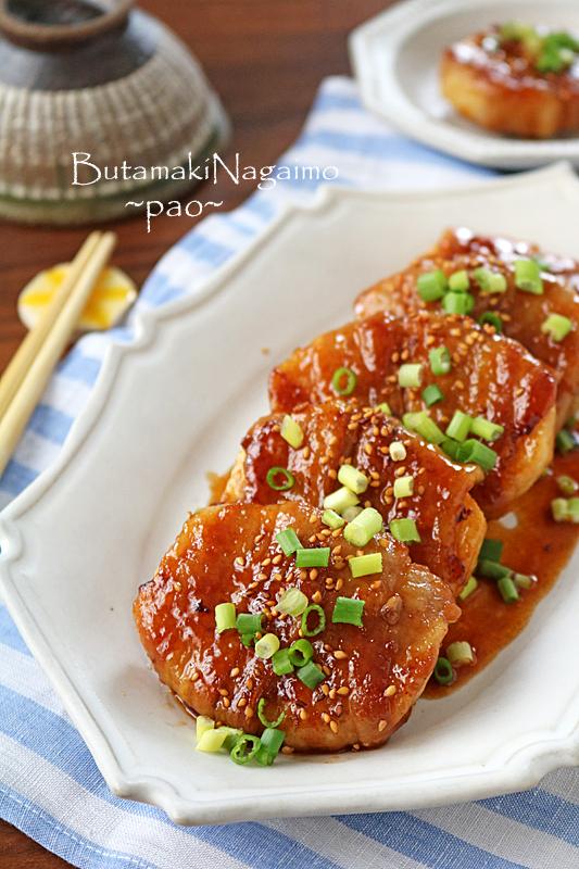 お弁当にもお勧め♪サクサク豚バラ長芋の甘辛ガーリックステーキ♪