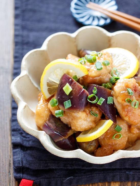 鶏唐となすのさっぱり♡焼きびたし【#作り置き #お弁当 #揚げない】