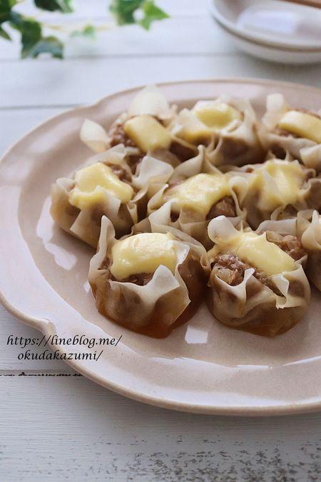 【レンジで6分】ピリ辛濃厚*チーズ入りシュウマイ