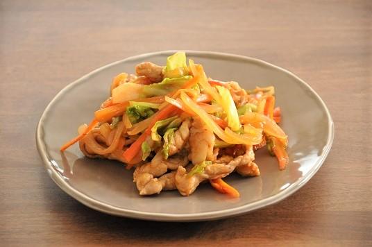 簡単*おいしい♡豚こまと野菜のプルコギ風