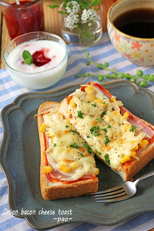 簡単朝ごはん♪新玉ねぎがとろっと甘いオニオンチーズトースト!
