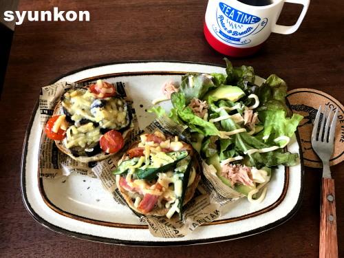 syunkonカフェてなんやねんて話と、夏野菜のマフィンで朝ごはん