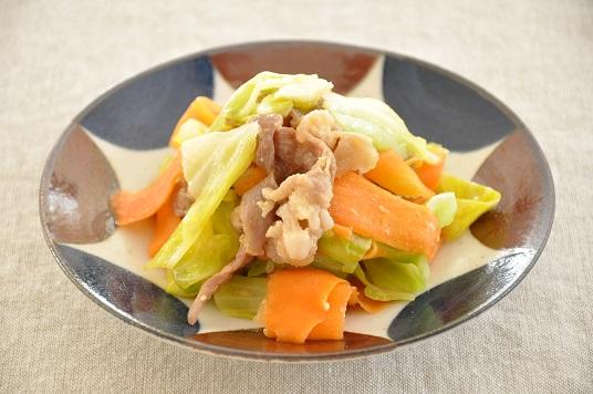 10分79円ストックおかず♡柔らかみそ豚と野菜の炒めもの