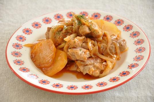 15分145円ストックおかず♡野菜でかさまし!ケチャップ味でこくウマな鶏肉炒め