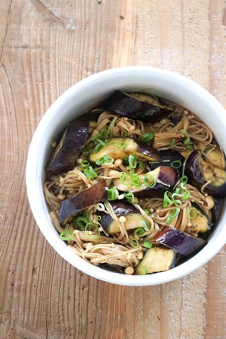 【レンチンで作りおき】茄子とえのきの甘辛生姜醤油煮