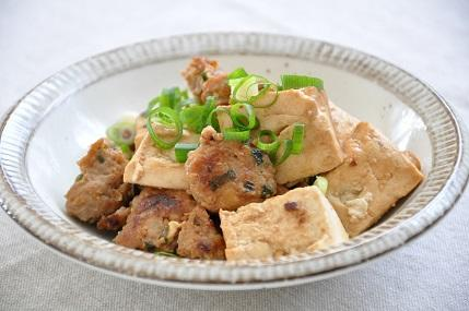 10分83円ストックおかず♡豆腐の肉みそ炒め