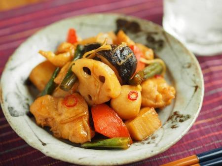 鶏むね肉と和風野菜のぽん酢煮