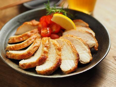 鶏むね肉の明太マヨ焼き