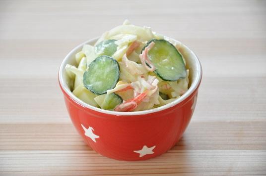15分62円ストックおかず♡たまごのカニカマのサラダ