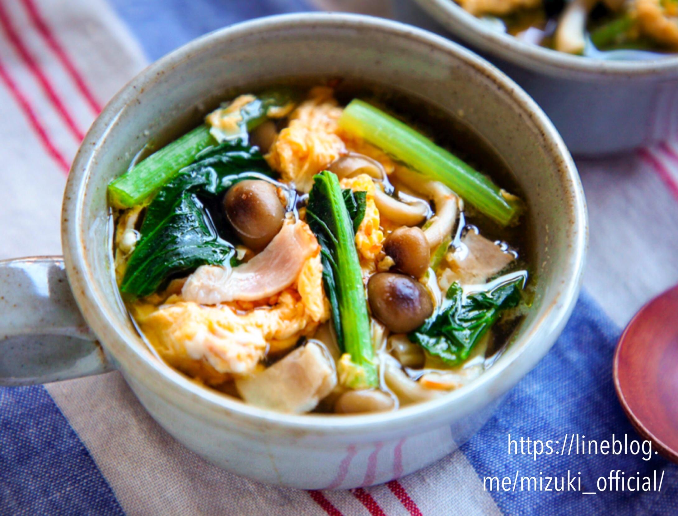 ♡ベーコンと野菜のたまごスープ♡【#簡単レシピ#節約#おかずスープ】