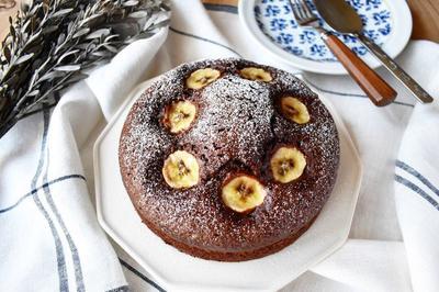 クリスマスにもおすすめ【チョコバナナケーキ】#ブラウニー #バナナ