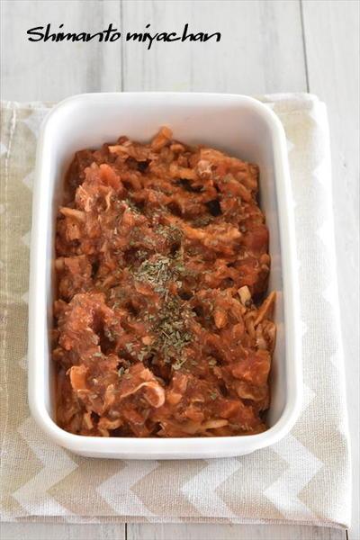 買い置き食材で作れる!切り干し大根とサバ缶のトマト煮
