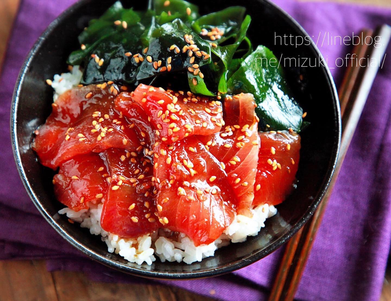 ♡5分de完成!まぐろの漬け丼♡【#簡単レシピ#時短#魚#丼】