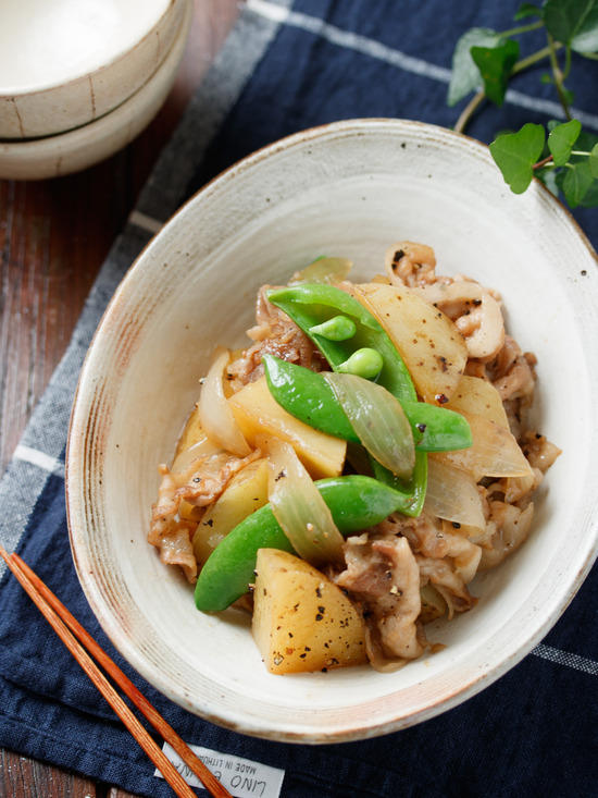 豚バラと新じゃがのポン酢煮【#作り置き #お弁当 #簡単 #節約 #主菜】