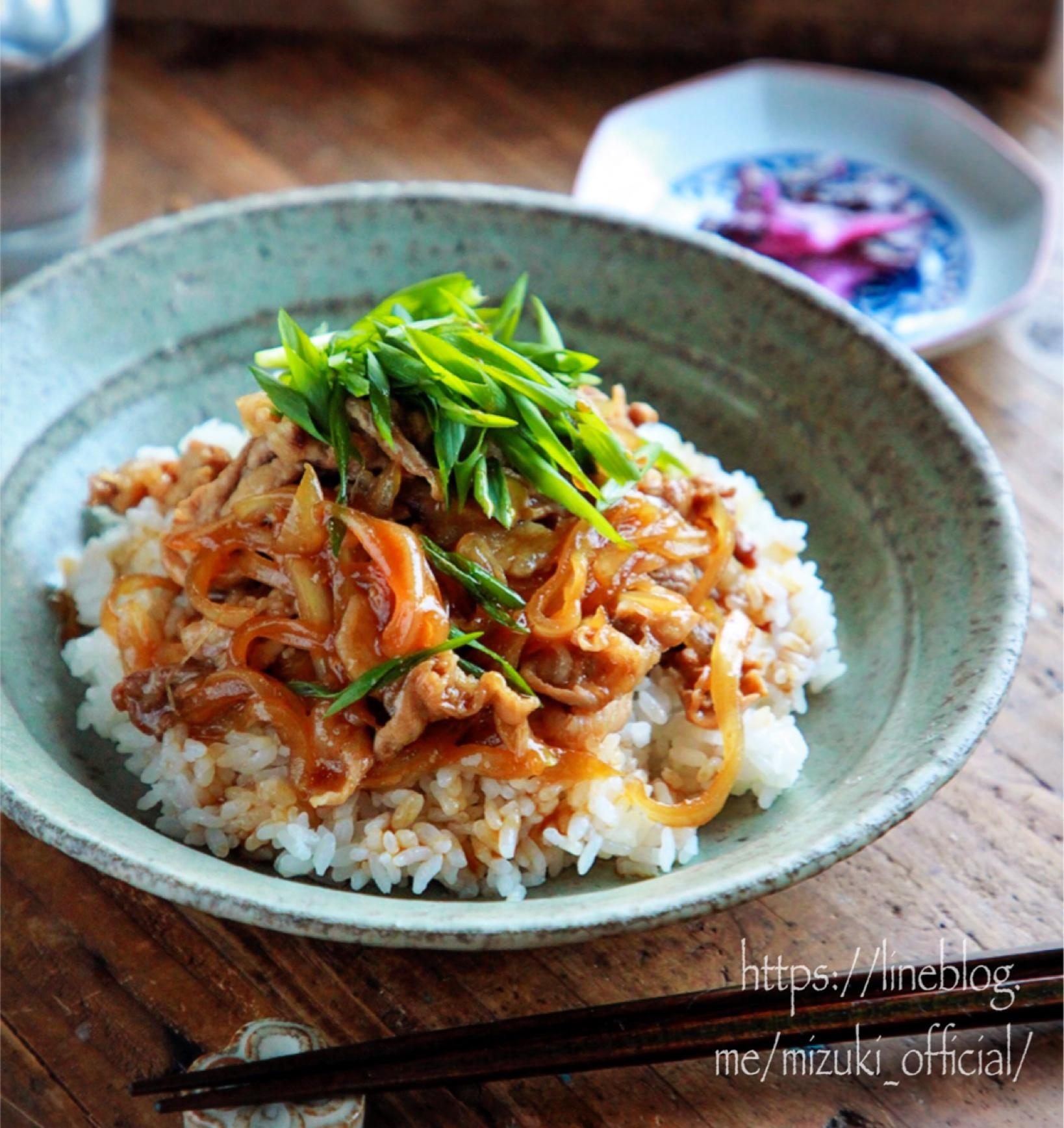 ♡うまだれ豚丼♡【#豚こま#簡単レシピ#時短#節約】