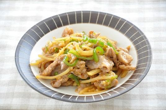 スタミナ満点!豚こまと野菜のピリ辛炒め