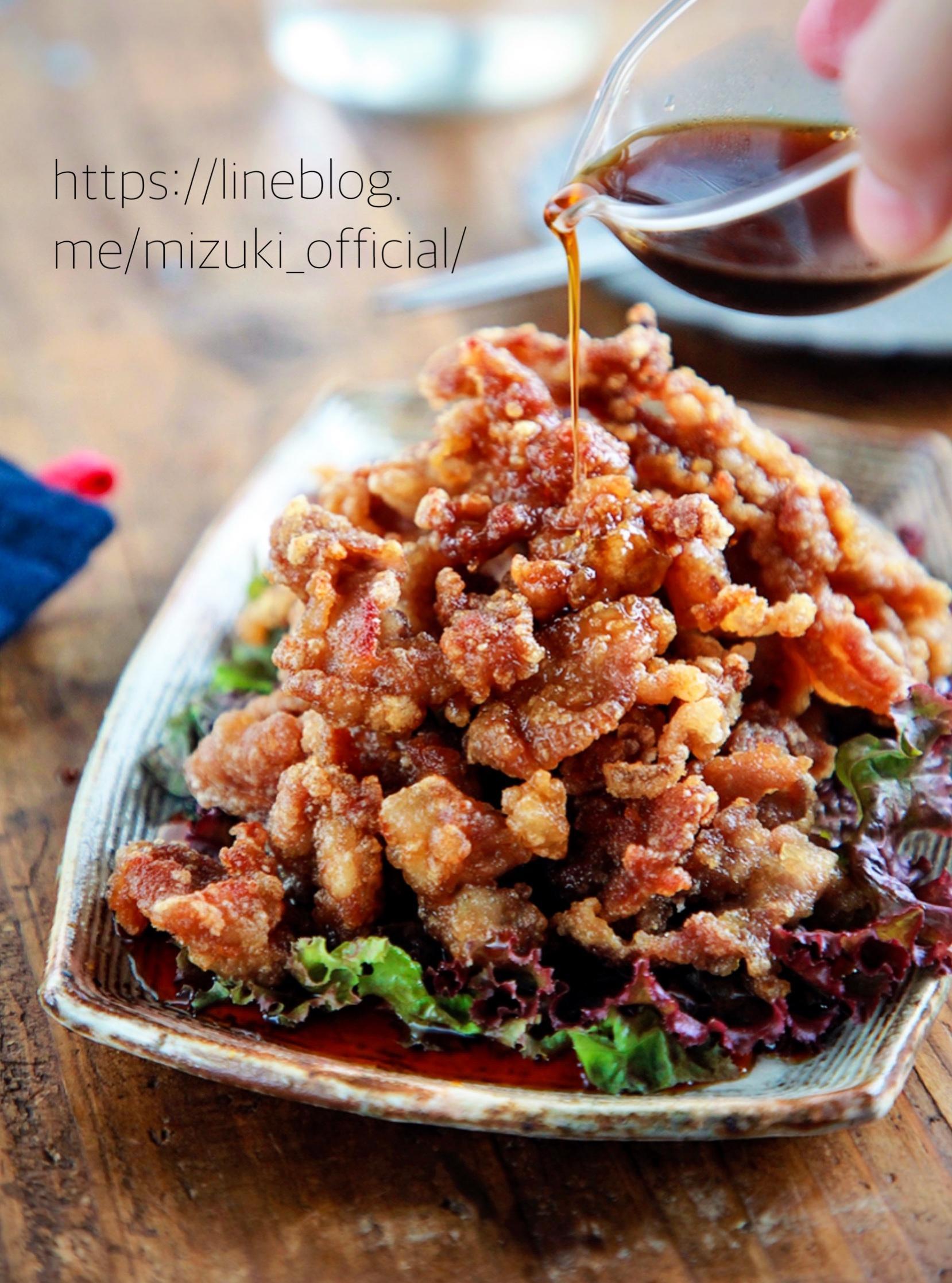 ♡カリカリ豚のポン酢がけ♡【#豚こま#簡単レシピ#時短#節約】