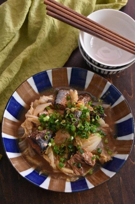 サバ味噌缶と白菜のうまとろ煮