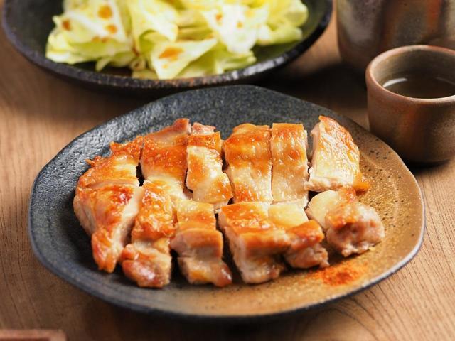 鶏もも肉のにんにく酒塩焼き