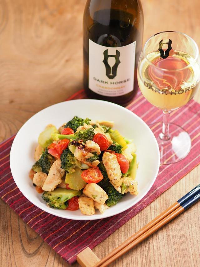 鶏むね肉とブロッコリーのレモンチーズ焼き、GW家飲みに白ワインと合わせたい!