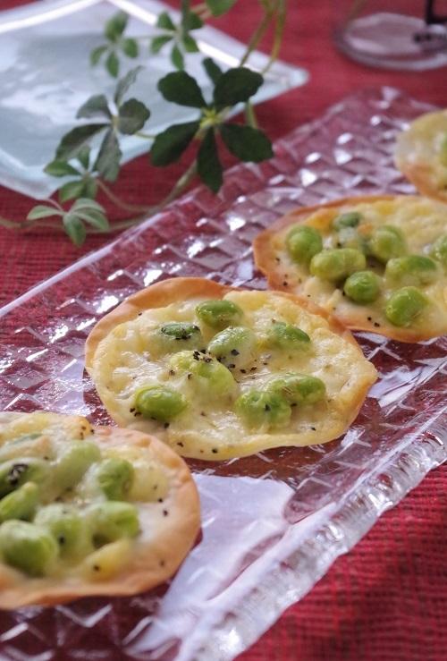 おつまみにも最高!「枝豆×餃子の皮」で作るおすすめレシピ