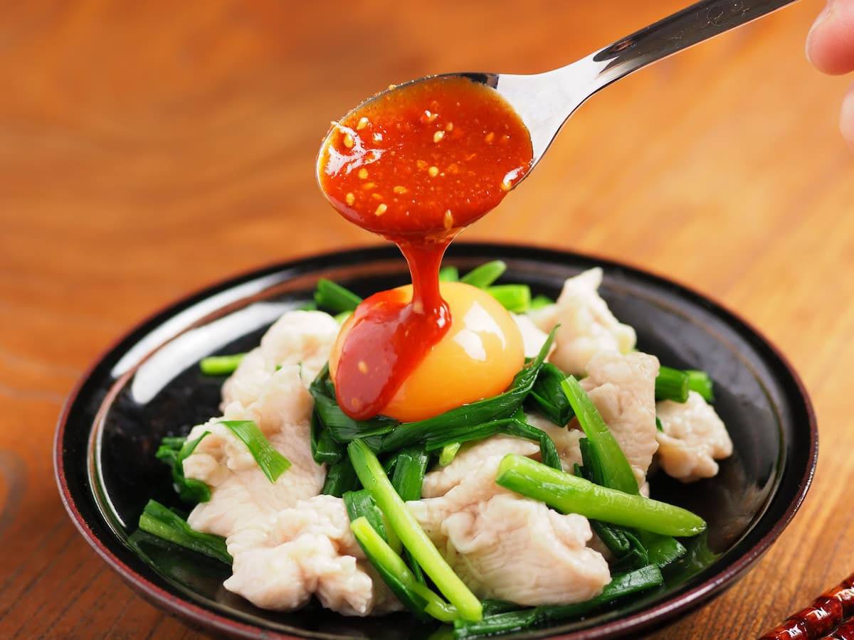 お酒にもご飯にもいけます!鶏むね肉で作る「水晶鶏のユッケ風」