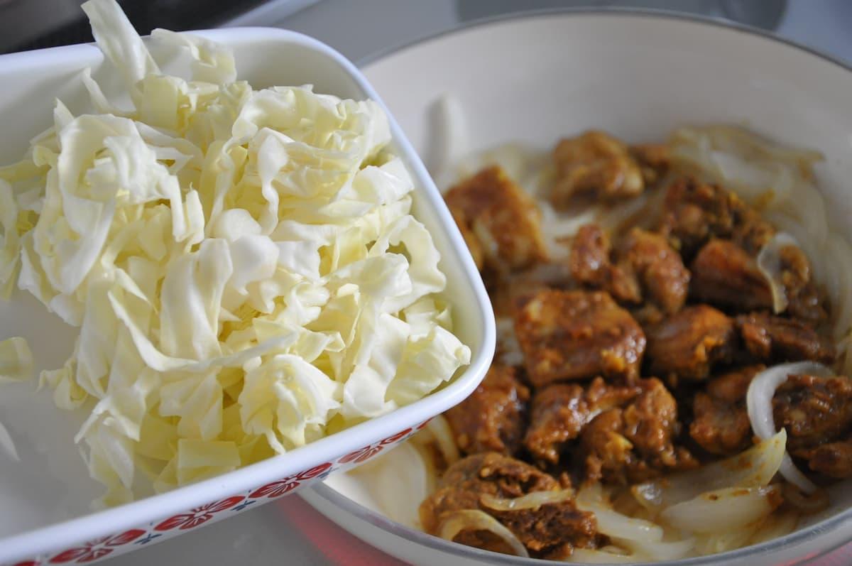 鶏肉と野菜のチーズ蒸し