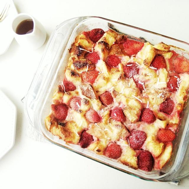 朝食やおやつに♪フルーツ入りがおいしいパンプディング
