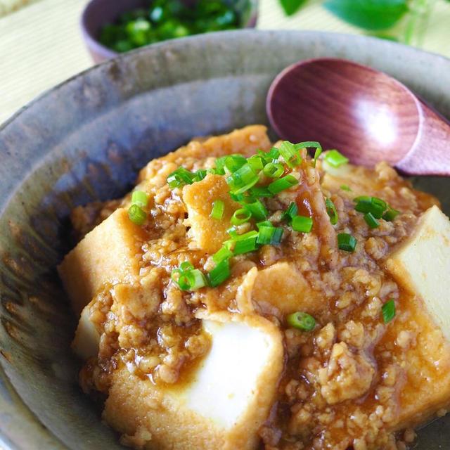 アレンジいろいろ!「豚ひき肉×厚揚げ」の簡単レシピ