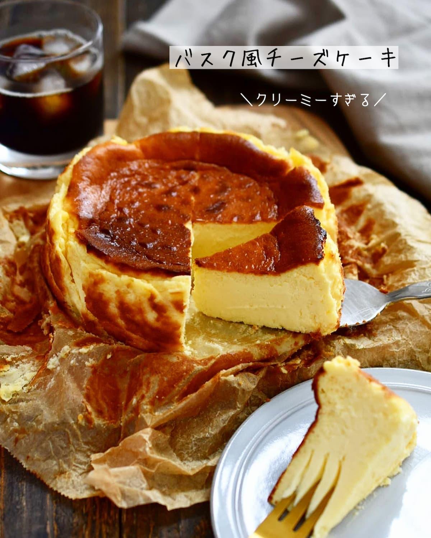 クリーミー食感にやみつき♪「バスク風チーズケーキ」