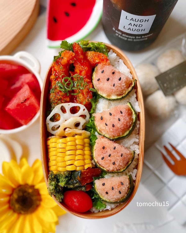 まるで本物みたい♪「#スイカ弁当」で夏を楽しもう  !