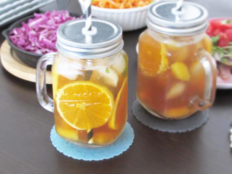 シュワシュワ&柑橘がさわやか!「ティーソーダ」を作ってみよう♪