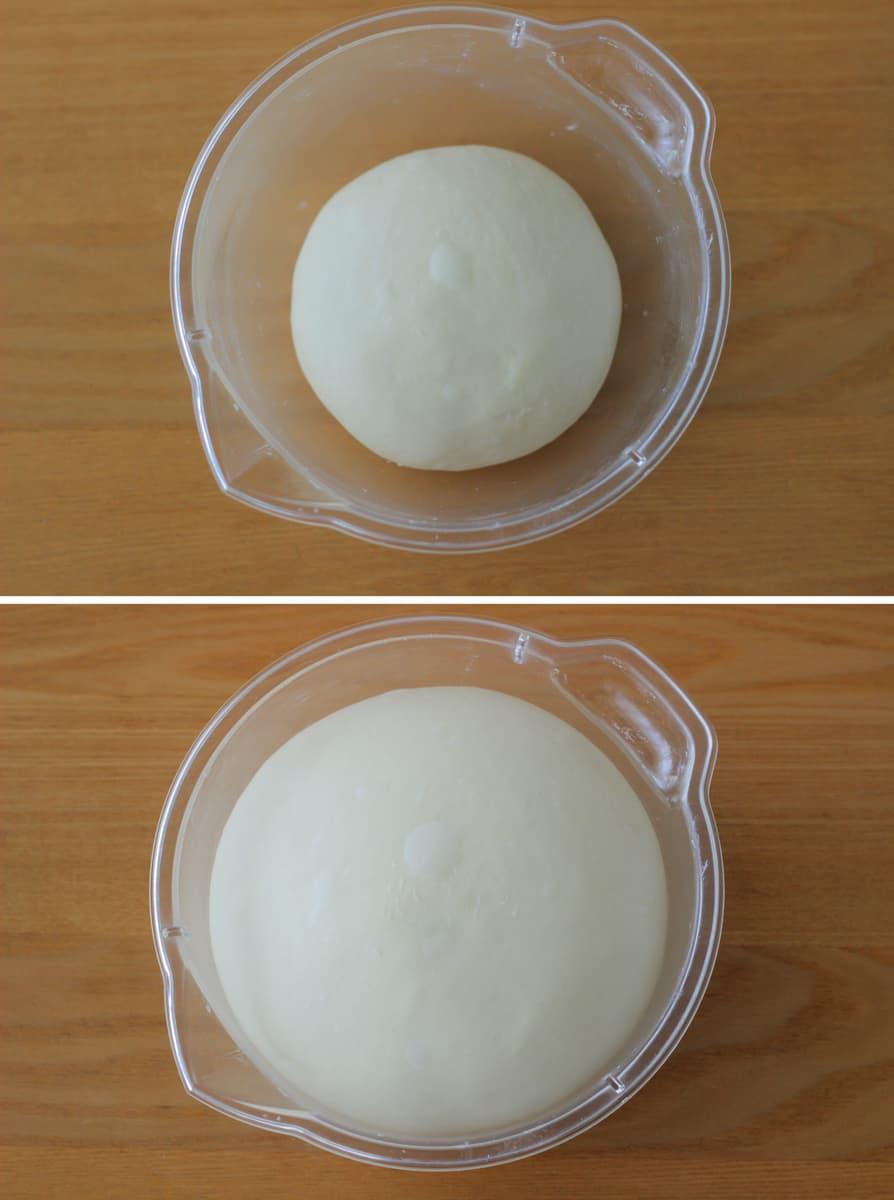 枝豆とチーズのパリッとフーガス捏ね~一次発酵