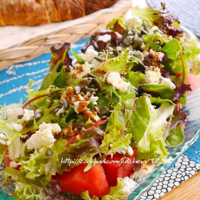 今だけのおいしさ♪「スイカ」を使ってサラダを作ってみよう!