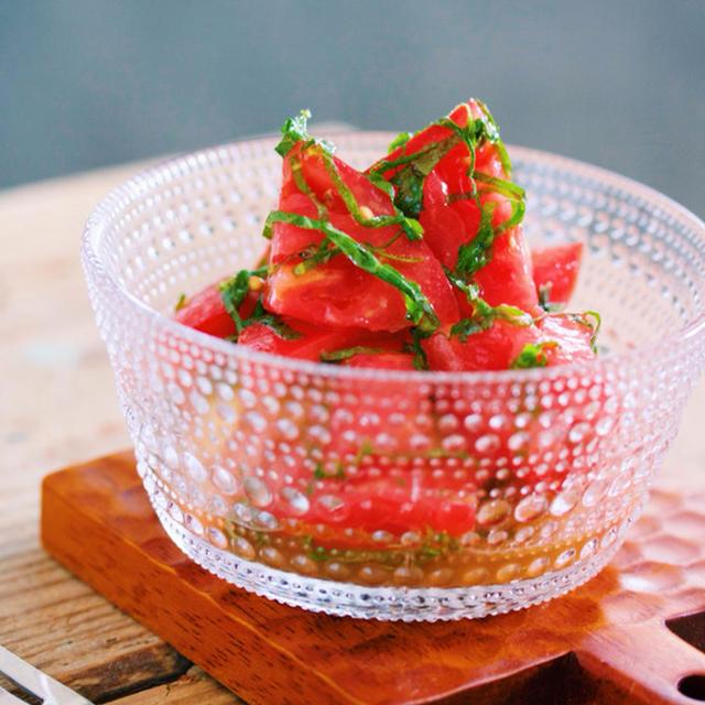 副菜に♪さっぱりとおいしい「トマトの和風マリネ」
