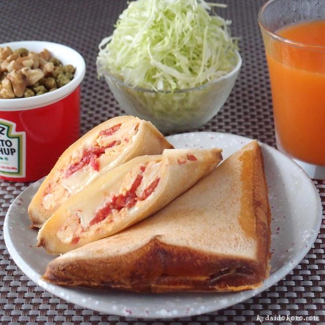 じゅわっと感がおいしい♪「トマトのホットサンド」おすすめレシピ
