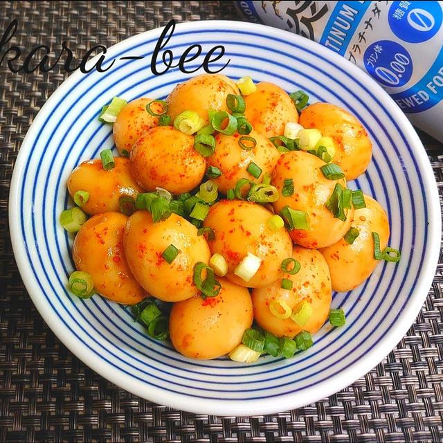 おつまみに食べたい!ピリ辛がポイントの「うずらの卵」レシピ