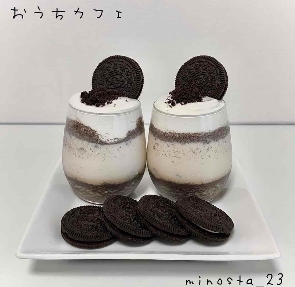 韓国カフェ気分が楽しめる♪「#オレオクッキーミルク」をおうちで作ってみよう!